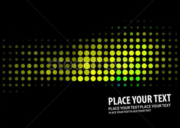 Green halftone background Stock photo © redshinestudio
