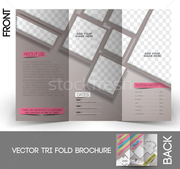 Danse club brochure up design affaires Photo stock © redshinestudio