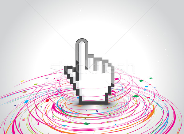 hand mouse symbol Stock photo © redshinestudio