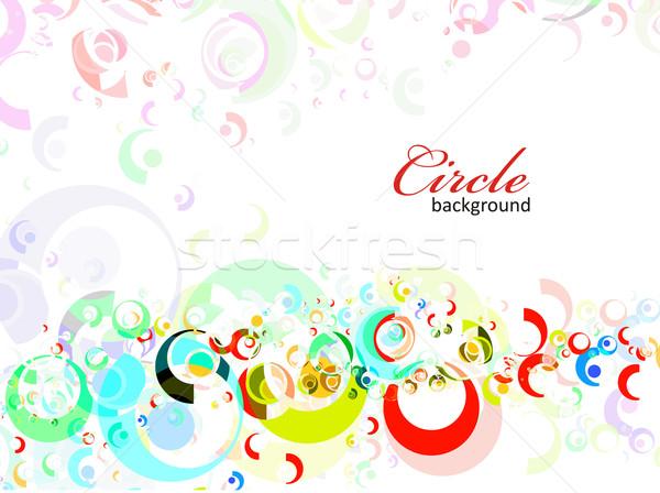 Intenzív szívárványszínű kör eps8 terv háttér Stock fotó © redshinestudio
