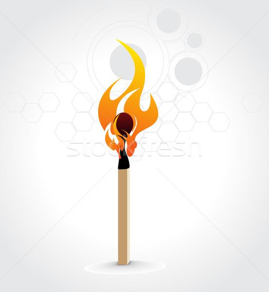 Burning match stick Stock photo © redshinestudio