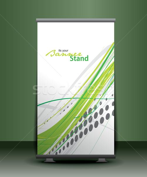 stand banner template Stock photo © redshinestudio