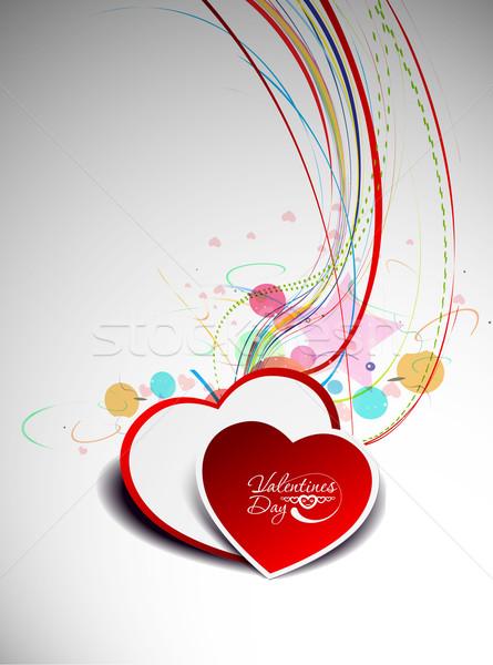 Abstract valentines day background Stock photo © redshinestudio