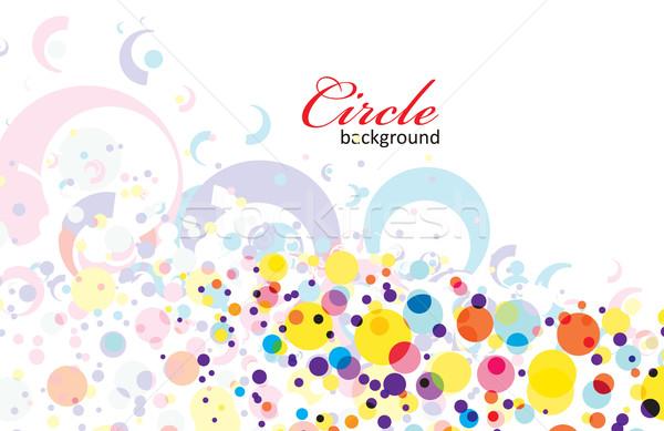 集中的な 虹色 サークル eps8 デザイン 背景 ストックフォト © redshinestudio