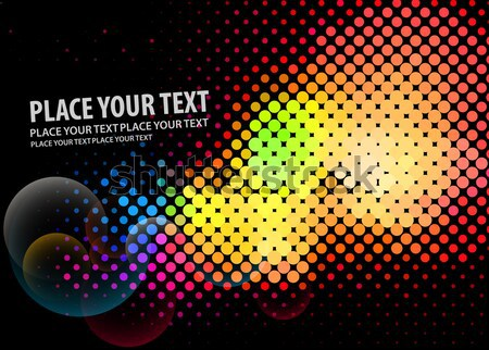 abstract halftone design Stock photo © redshinestudio