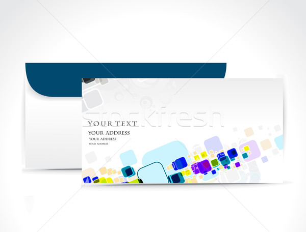 Kâğıt zarf yalıtılmış beyaz web posta Stok fotoğraf © redshinestudio