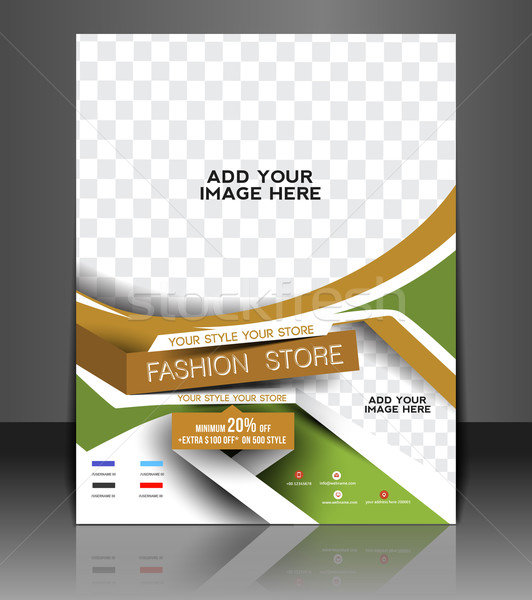 Mode magasin flyer affiche couvrir Photo stock © redshinestudio