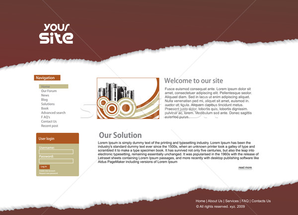 web site design Stock photo © redshinestudio