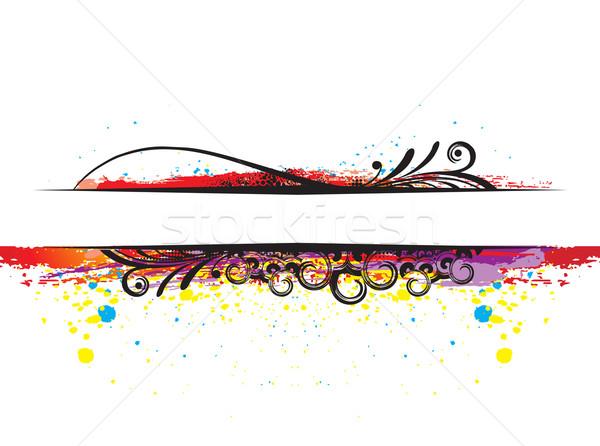 abstract grunge brushes Stock photo © redshinestudio
