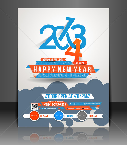 New Year Party Flyer  Stock photo © redshinestudio