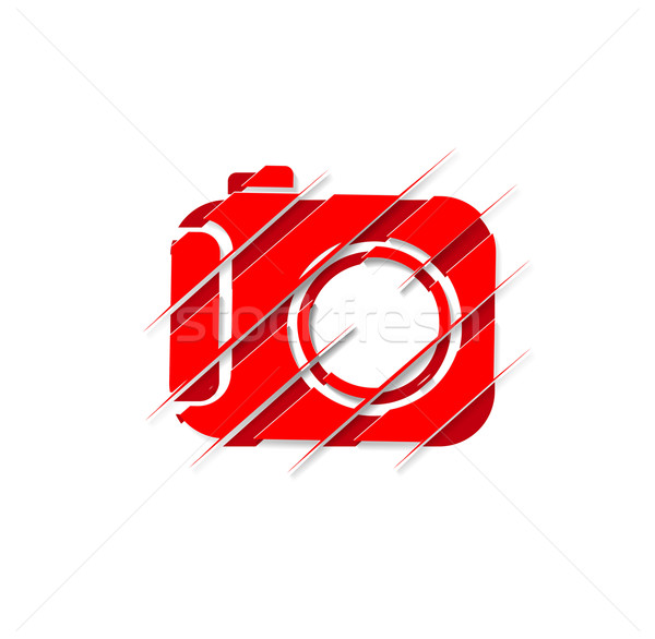 Camera Icon Stock photo © redshinestudio