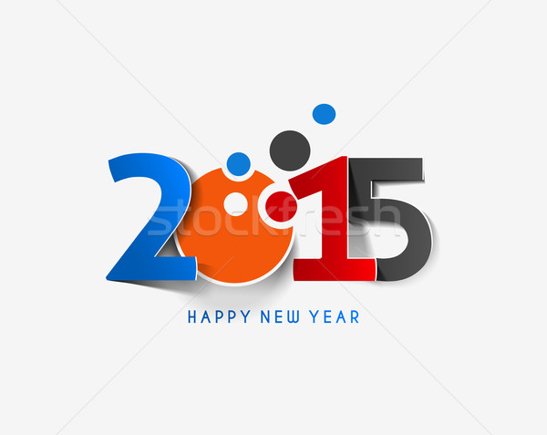 Buon anno 2015 testo design business abstract Foto d'archivio © redshinestudio