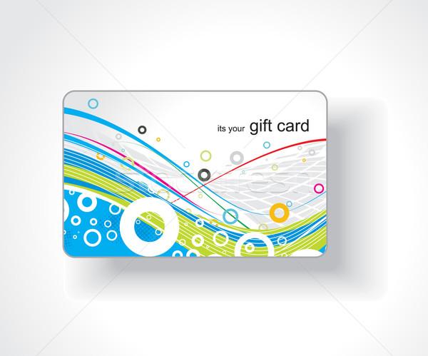 Mooie gift card abstract verjaardag achtergrond regenboog Stockfoto © redshinestudio