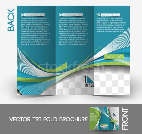 Architecture & Interior Designer Brochure Stock photo © redshinestudio