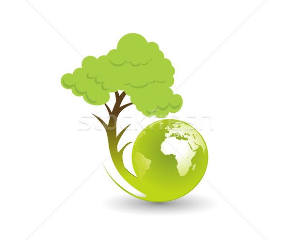 eco globe illustration Stock photo © redshinestudio
