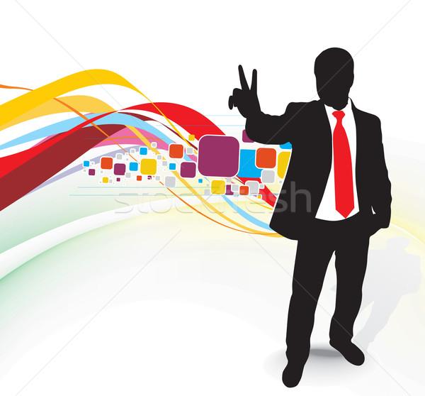 ビジネスマン 勝利 にログイン シンボル 成功 ストックフォト © redshinestudio