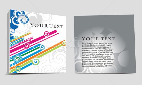 CD cover design Stock photo © redshinestudio