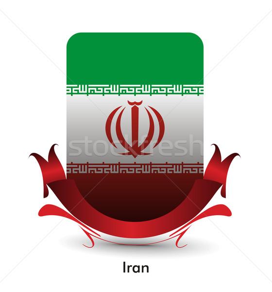 イラン クロアチア フラグ スタンド バナー デザイン ストックフォト © redshinestudio