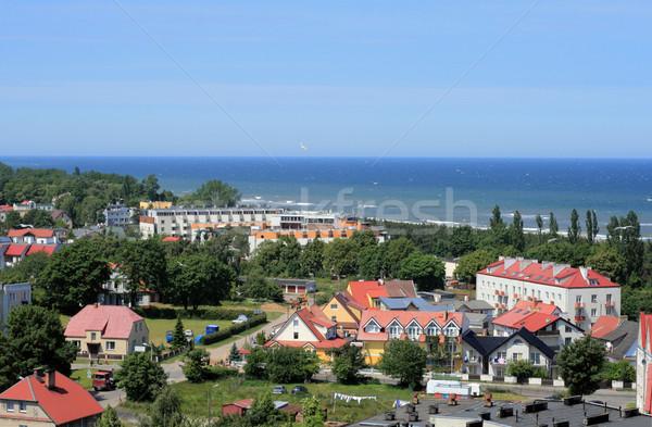 Costa linha mar báltico praia casa Foto stock © remik44992