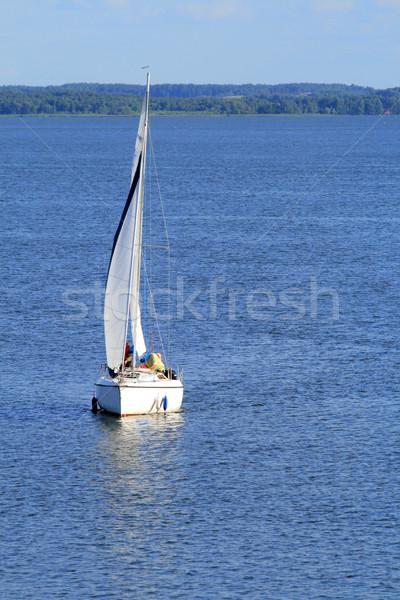 Lago veleiro iate navegação colorido céu Foto stock © remik44992