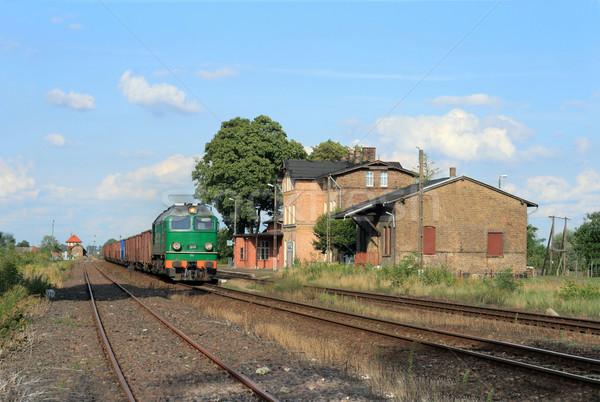 Diesel trem locomotiva primavera cor ambiente Foto stock © remik44992