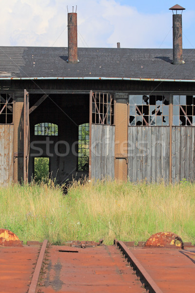 Front of the old railway depot Stock photo © remik44992