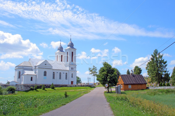 Rural landscape in the village Stock photo © remik44992