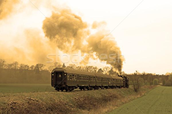 Steam retro train Stock photo © remik44992