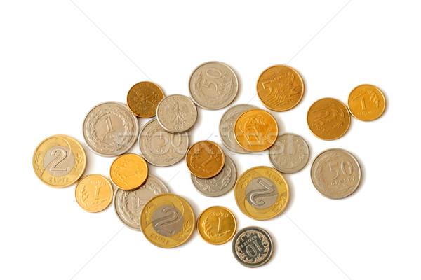 Munten geïsoleerd witte geld financieren markt Stockfoto © remik44992