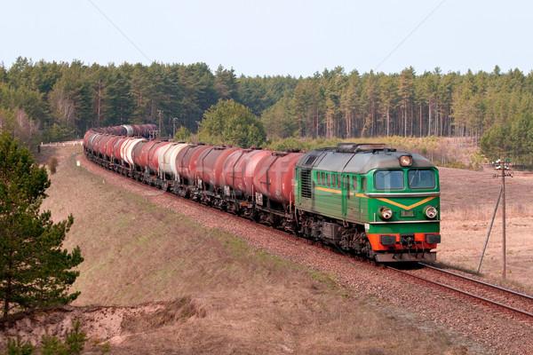 Brandstof trein zomer industrie staal chemische Stockfoto © remik44992