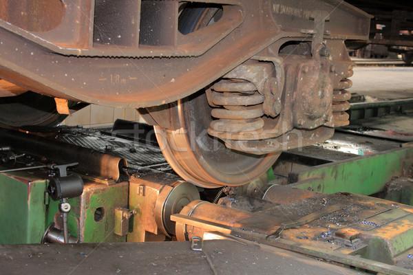Railway wheel turning Stock photo © remik44992