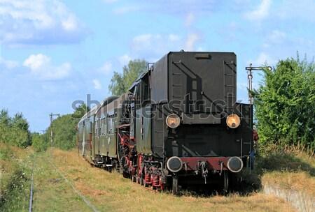 Сток-фото: ретро · пар · поезд · старые · дым · путешествия