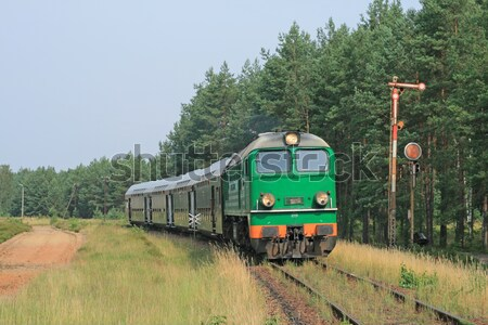 поезд станция моста пейзаж лет Сток-фото © remik44992
