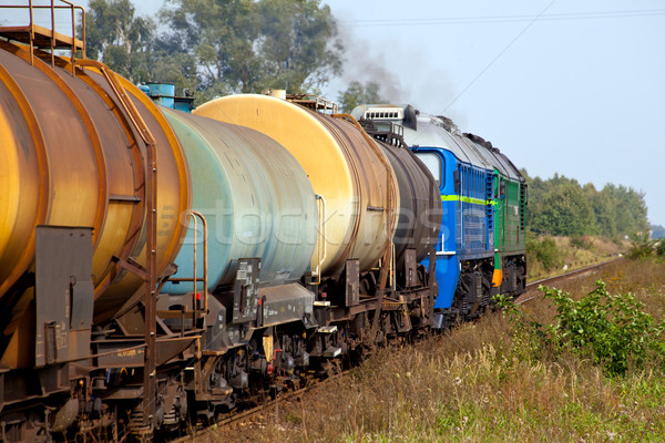 Diesel trein tank fotografie landschap vracht Stockfoto © remik44992