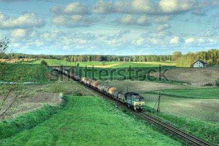 Diesel trein locomotief landschap zomer macht Stockfoto © remik44992