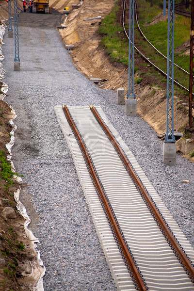 Railway track Stock photo © remik44992