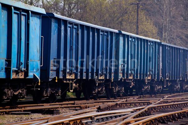 Transporte trem negócio carro preto entrega Foto stock © remik44992