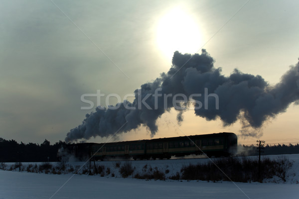 Сток-фото: старые · ретро · пар · поезд · Vintage