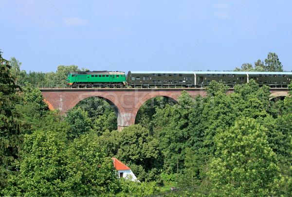 поезд большой каменные моста лет зеленый Сток-фото © remik44992