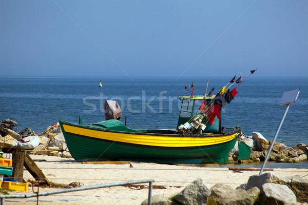 Bois bateau plage travaux nature mer Photo stock © remik44992