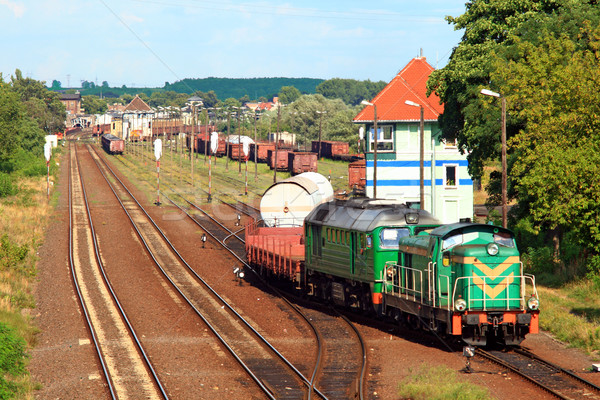Train shunting at the freight yard Stock photo © remik44992