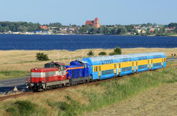 Landschap trein verdubbelen dek twee diesel Stockfoto © remik44992