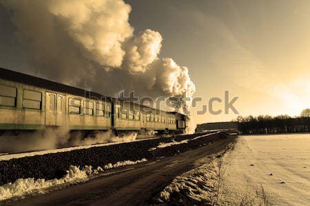 古い レトロな 蒸気 列車 ヴィンテージ ストックフォト © remik44992