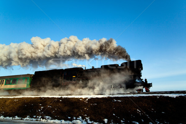 Old retro steam train Stock photo © remik44992