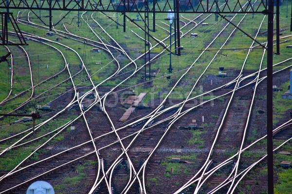 железная дорога сеть железная дорога трек Сток-фото © remik44992