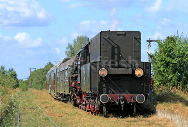 Steam train at the station Stock photo © remik44992