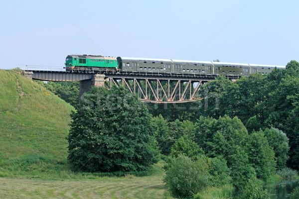 列車 ビッグ 鋼 橋 夏 緑 ストックフォト © remik44992