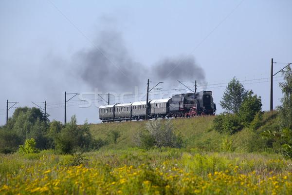 ストックフォト: レトロな · 蒸気 · 列車 · 古い · ヴィンテージ · 写真