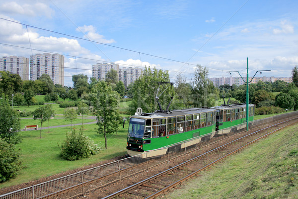 Tram on its route Stock photo © remik44992