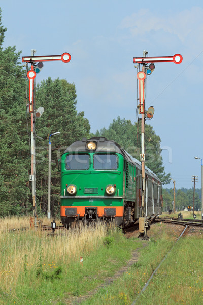 Trem verão verde cor vintage motor Foto stock © remik44992